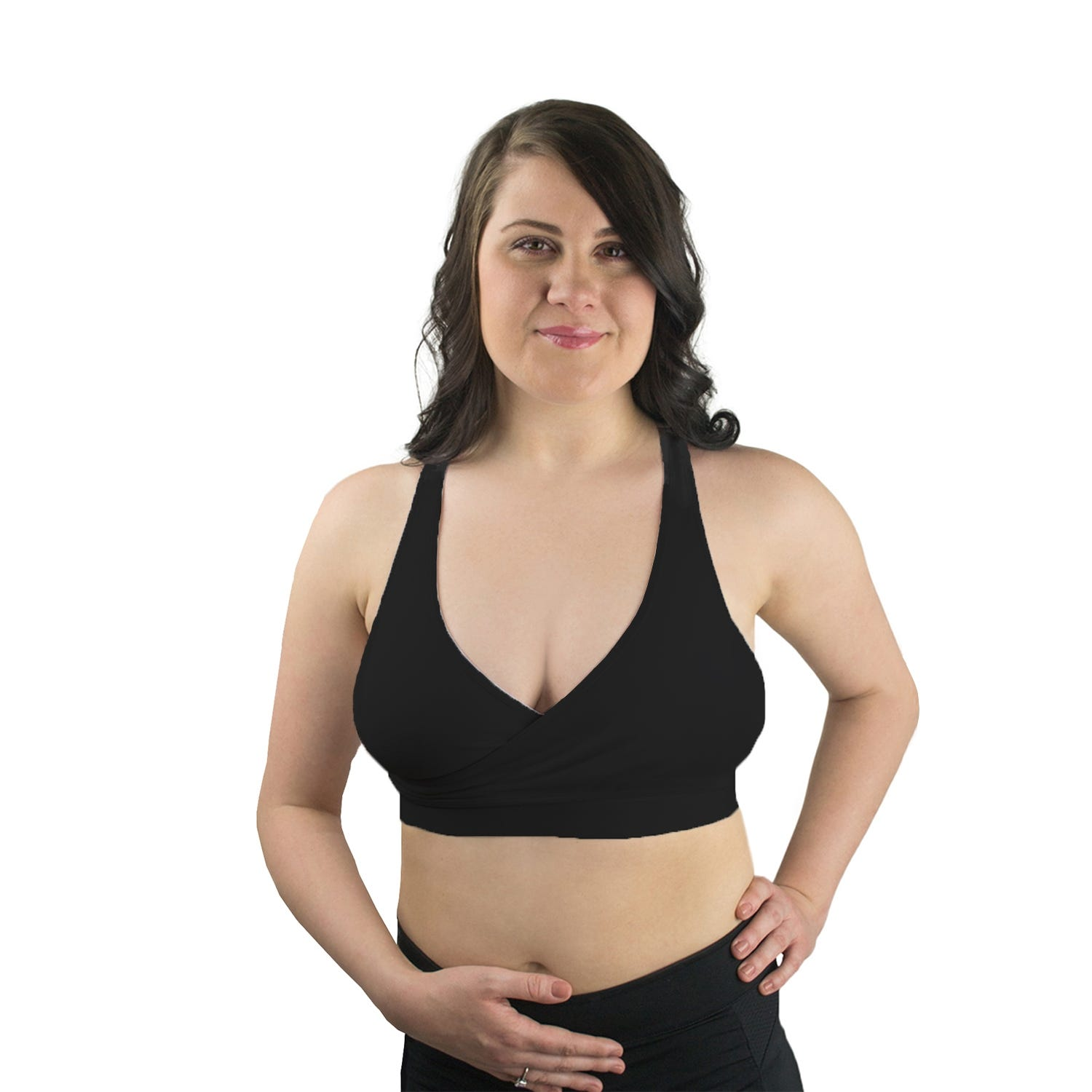 Rumina Racerback Relaxed Bra In Black, Size X-Large