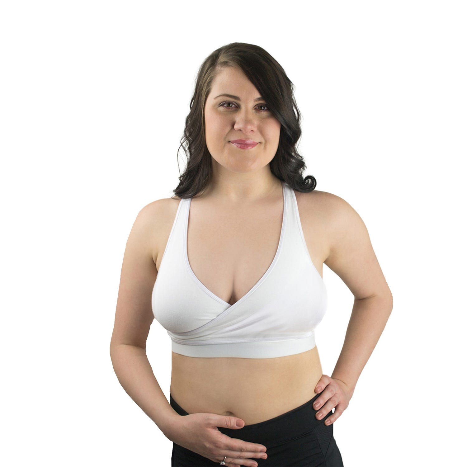 Rumina Racerback Relaxed Bra In White, Size X-Small