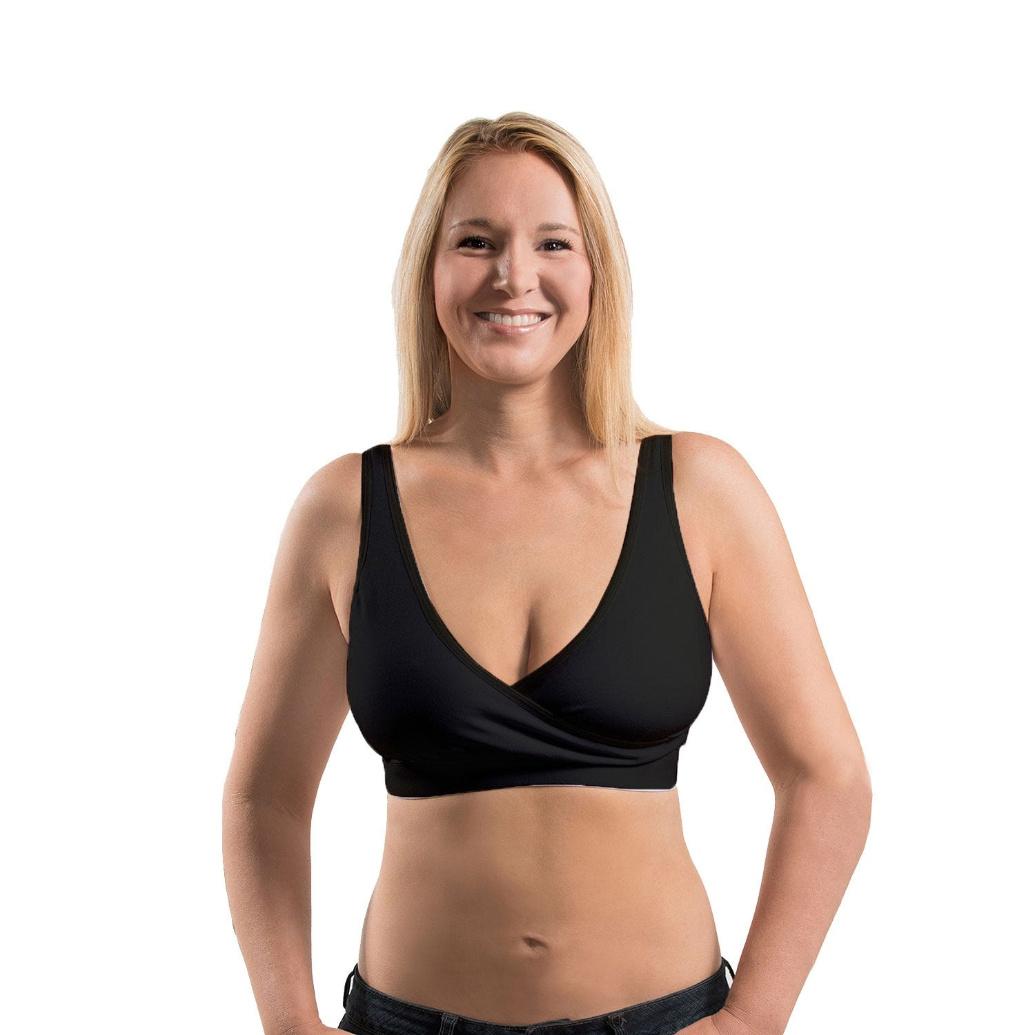 Rumina Essential Pump & Nurse Bra In Black, Size Medium